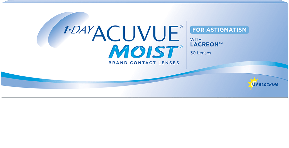 1- DAY ACUVUE® MOIST para Astigmatismo